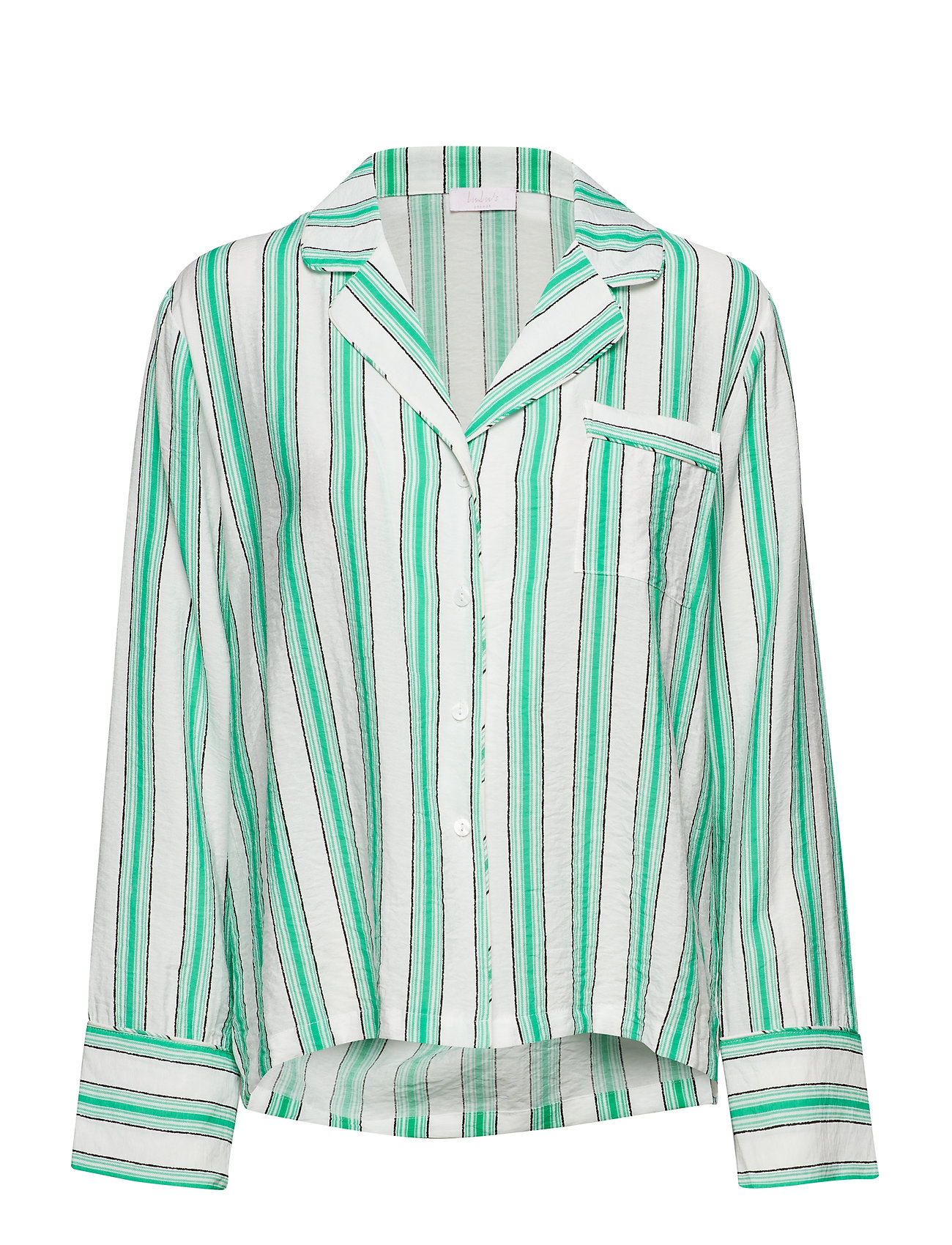 Lulu's Drawer Georgia shirt - GREEN STRIPE