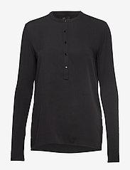 Lulu's Drawer - Houston blouse - pitkähihaiset puserot - black - 0