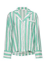 Georgia shirt - GREEN STRIPE