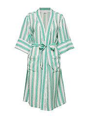 Georgia kimono - GREEN STRIPE