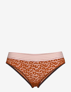 Holly leomesh low panty - RUST