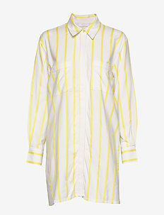Ida long shirt - OFF WHITE/LEMON STRIPE