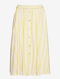 Ida skirt - OFF WHITE/LEMON STRIPE