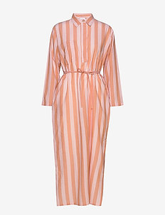 Iman shirt dress - FUDGE/PEACH STRIPE