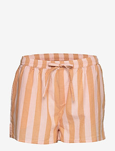 Iman shorts - FUDGE/PEACH STRIPE