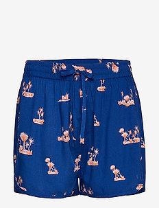 Ivona shorts - NAVY WITH PRINT