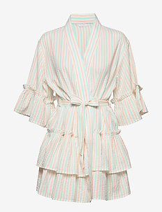 Ivy kimono dress - MULTI COLOR STRIPE