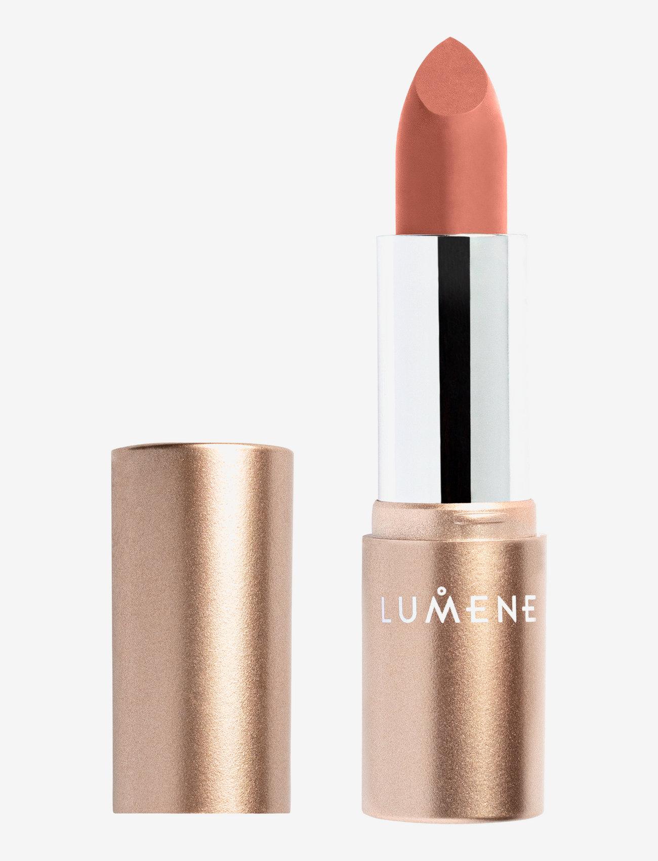 LUMENE - Luminous Moisture Matte Lipstick - läppstift - 102 choco oat - 0