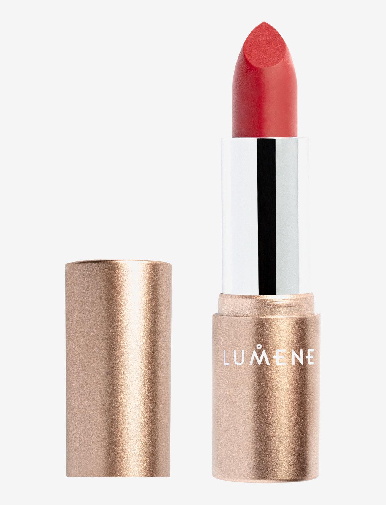 LUMENE - Luminous Moisture Matte Lipstick - läppstift - 108 winter apple - 0
