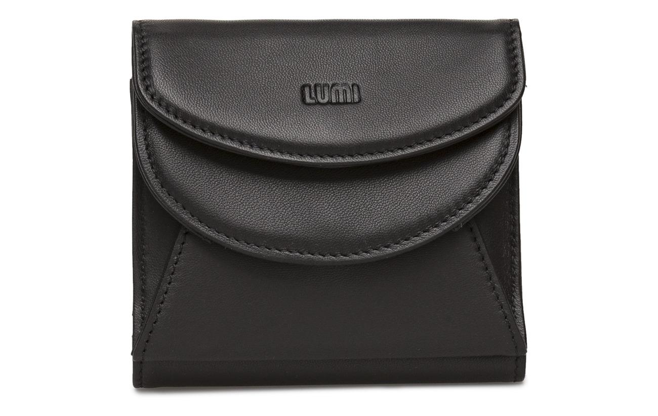 black Intérieure Lumi 100 Équipement Trifold Polyester Napa Cuir Brillo Sheep Viivi Doublure Wallet Black IIYAw