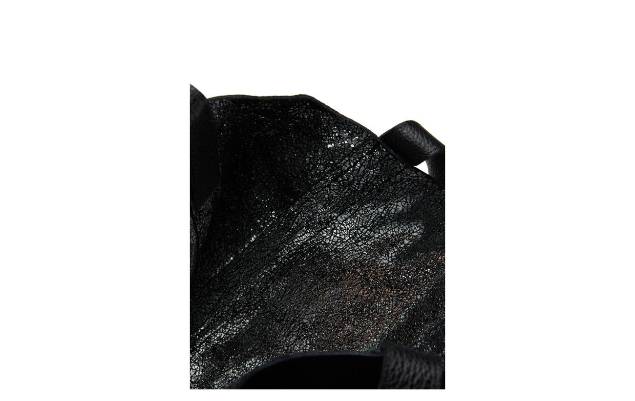 Tote Sergé Reversible Équipement Full De Large silver Blue Coton Vache Intérieure 100 Lumi Floater Linda Peau Black Grain Doublure Eq7tOt