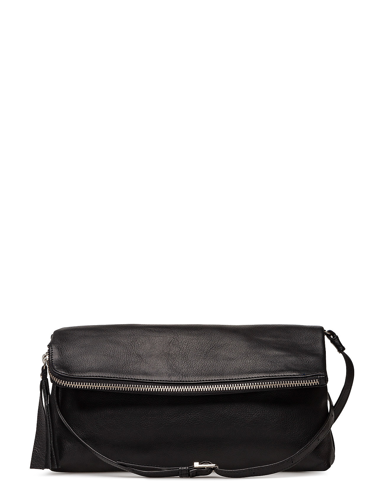 Image of Stefanie Large Pouch Bag Bags Small Shoulder Bags - Crossbody Bags Sort LUMI (3308586499)