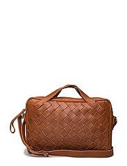 Taika Woven Style Laptop Bag - COGNAC