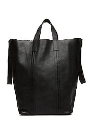 Linda Large Reversible Tote Floater - BLACK/SILVER