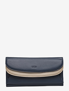 Sylvi Maxi Trifold Wallet - BLUE/TAUPE
