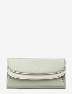 Sylvi Maxi Trifold Wallet - MINT/WHITE