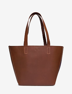 ALMA EAST-WEST TOTE WITH POUCH - fashion shoppers - cognac