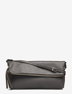 STEFANIE LARGE POUCH BAG - GREY