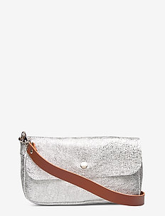 FELICIA POCKET BAG - SILVER/BROWN