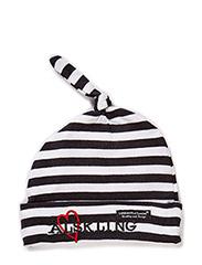Cap, striped, Älskling - BLACK/WHITE ÄLSKLING