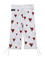 Pants - WHITE/RED