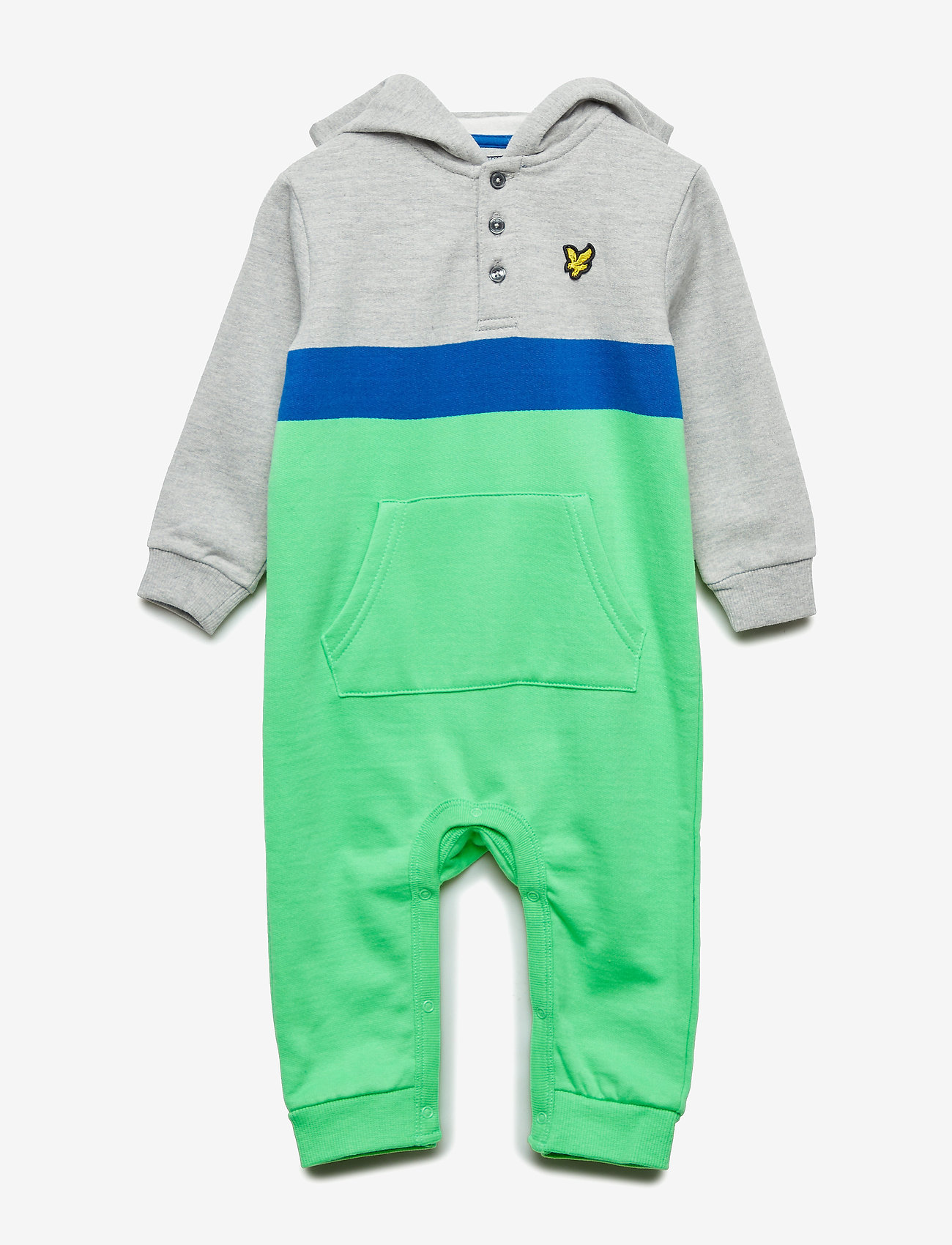 Lyle & Scott Junior - Fleece Romper - long-sleeved - light vintage grey heather - 0
