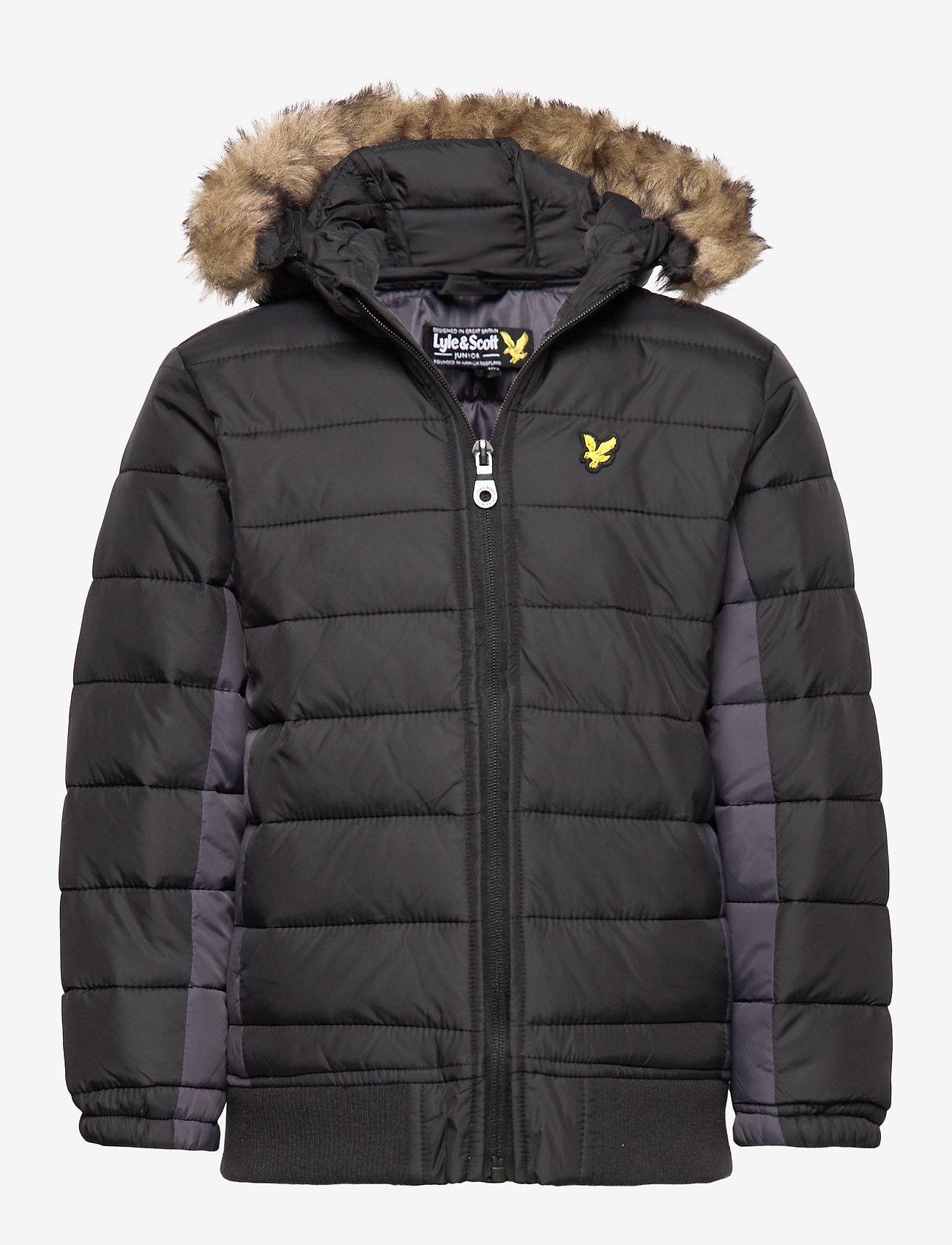 Lyle & Scott Junior - Light Weight Colour Block Jacket - puffer & padded - black - 0