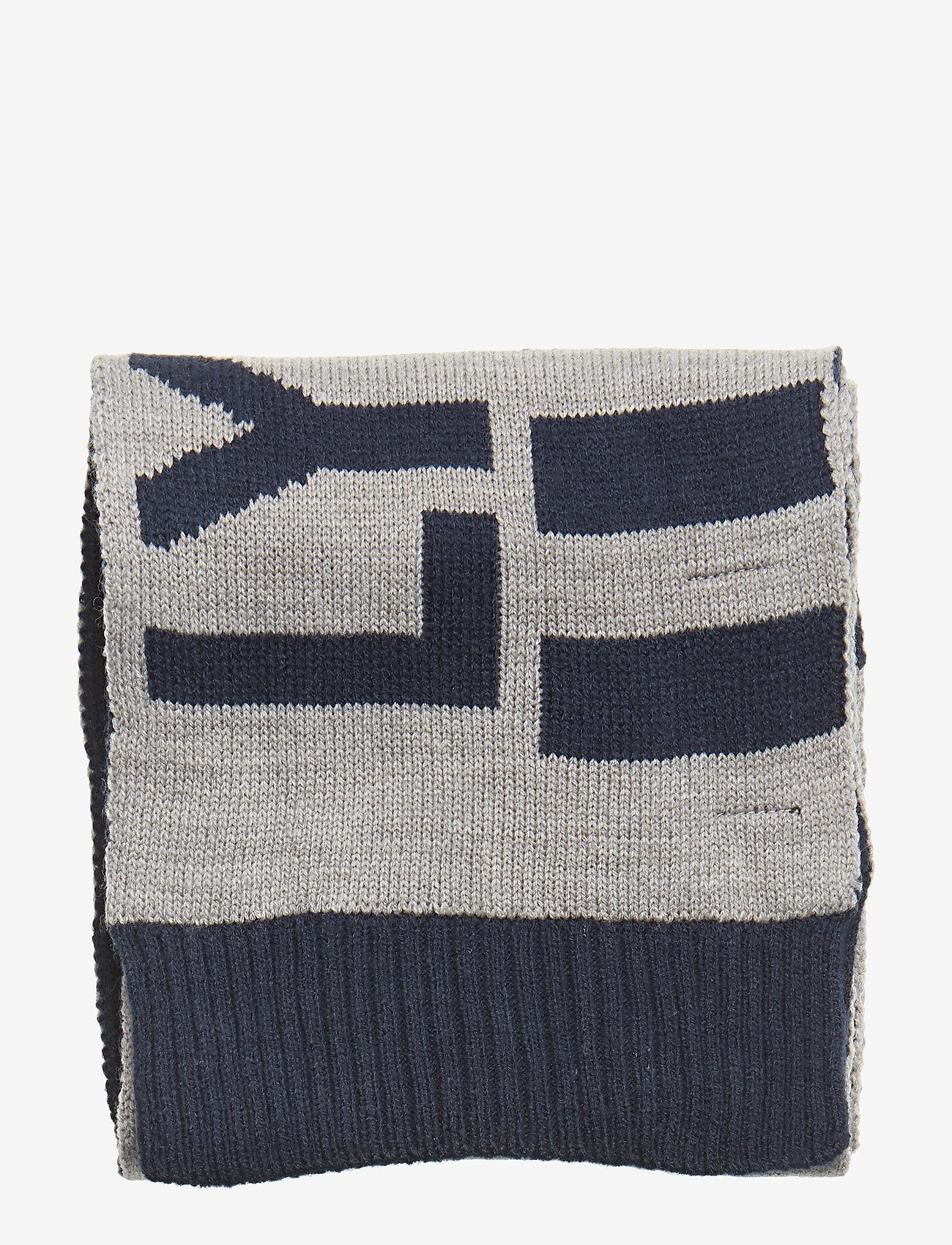 Lyle & Scott Junior - Neutral Stripe Scarf - huivit - vintage grey heather