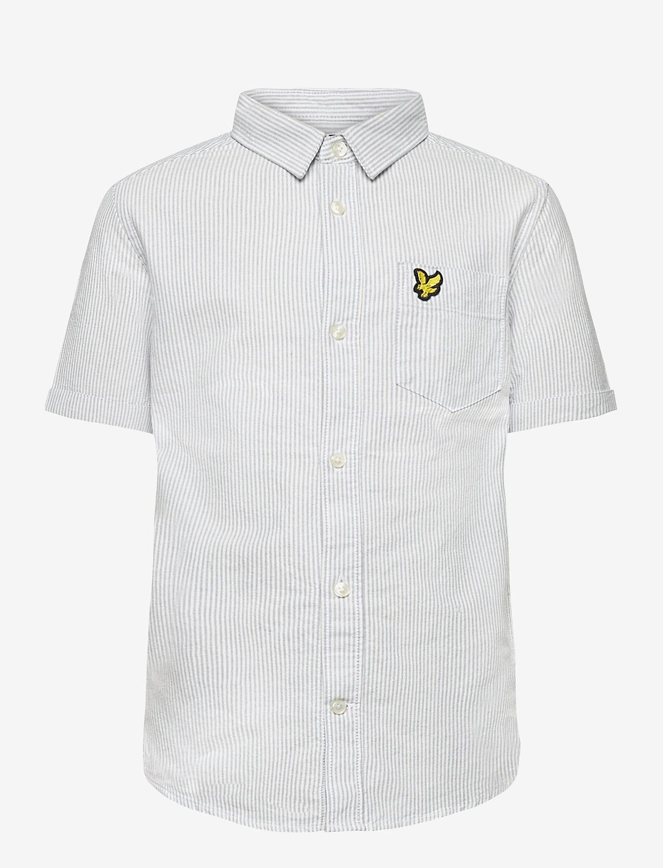 Lyle & Scott Junior - Fine Stripe SS Shirt - overhemden - sky blue - 0