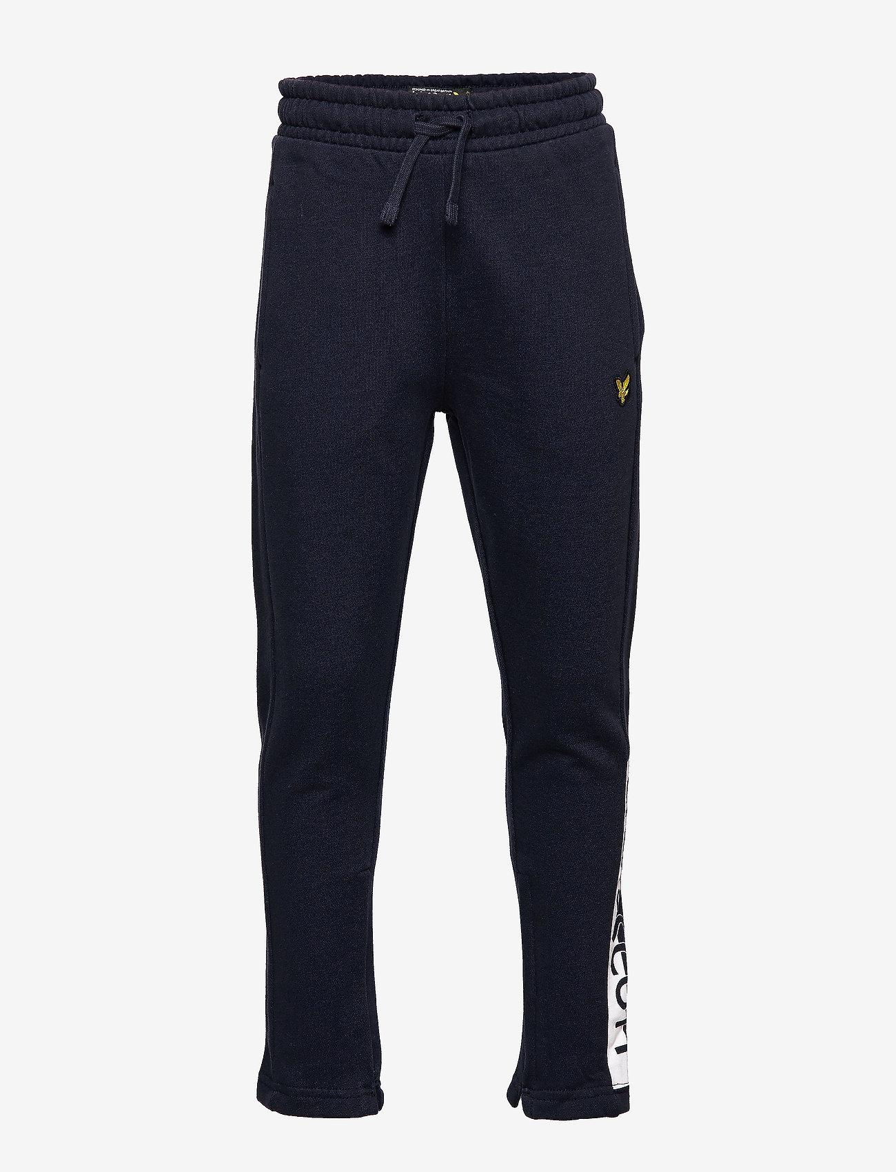 Lyle & Scott Junior - Zip Hem Block Logo Jogger - sweatpants - navy blazer - 0