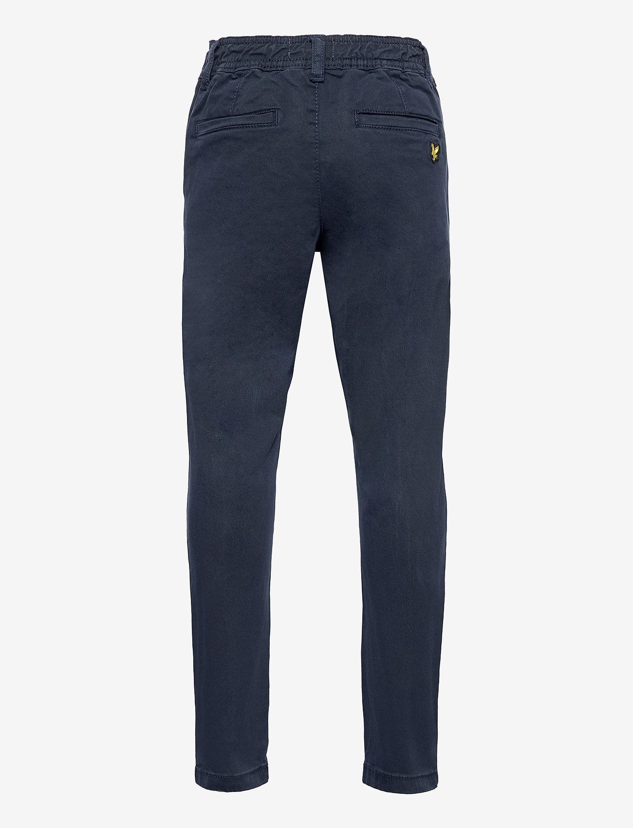 Lyle & Scott Junior - Elasticated Chino - trousers - navy blazer - 1
