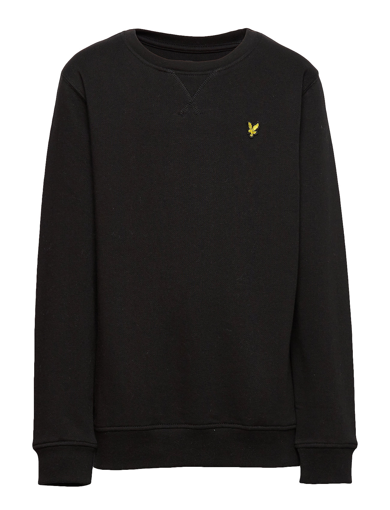 Lyle & Scott Junior Plain Crew Neck Fleece - TRUE BLACK