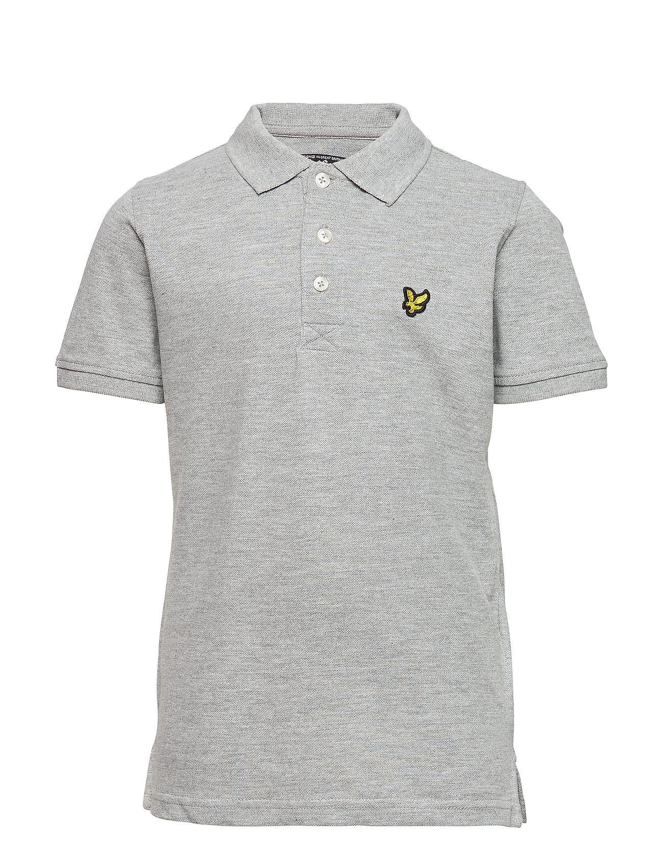 Lyle & Scott Junior Classic Polo Shirt - VINTAGE GREY HEATHER