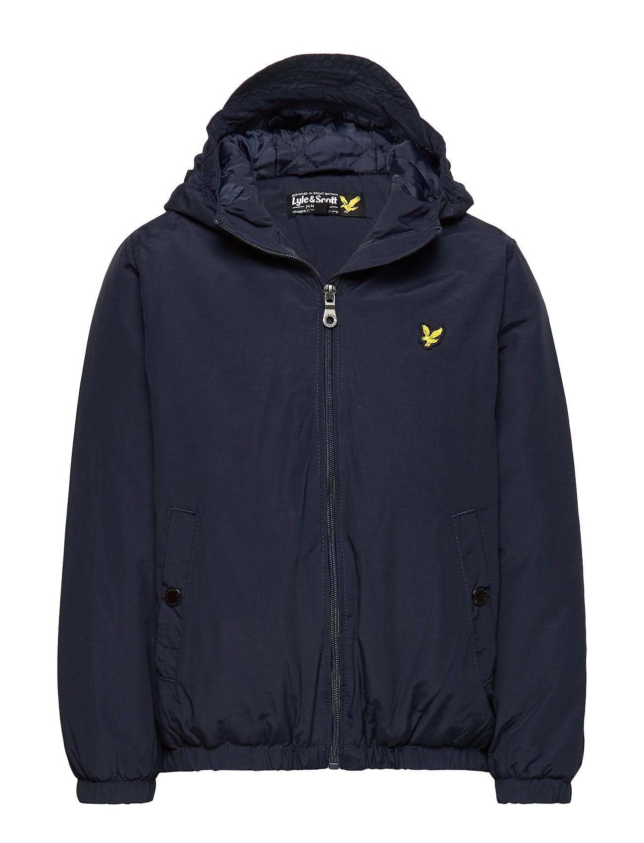 Lyle & Scott Junior Zip Through Hooded Jacket - NAVY BLAZER