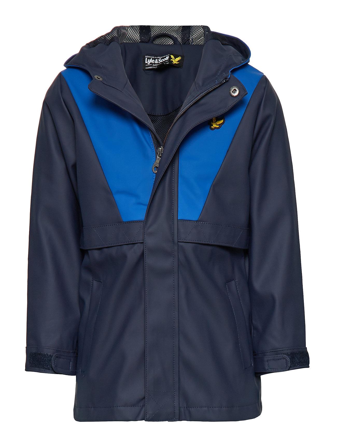 Zip Through Showerproof Jacket Outerwear Rainwear Jackets Blå Lyle & Scott Junior