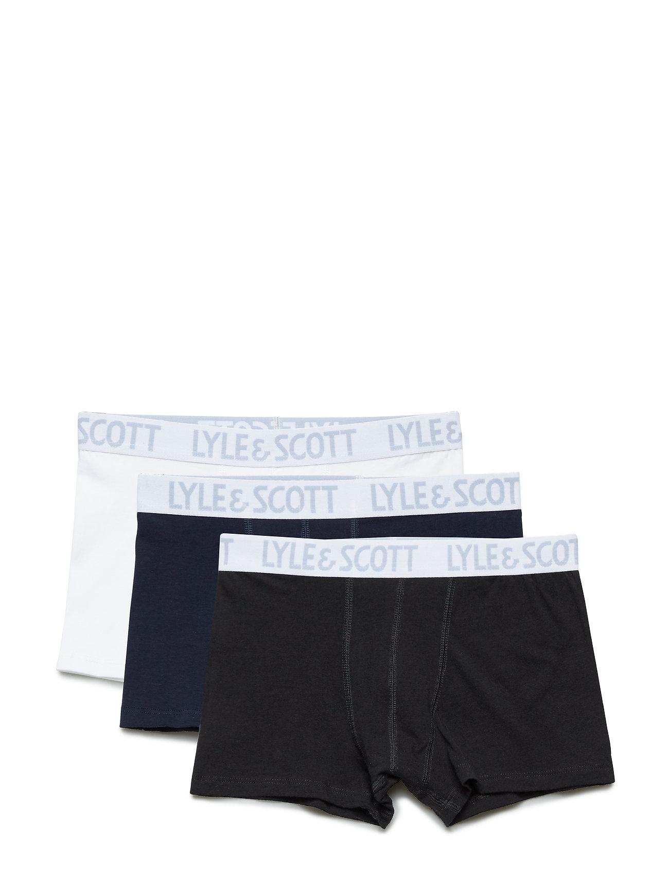 Lyle & Scott Junior Solid 3 Pair Boxers - MULTI COLOURED