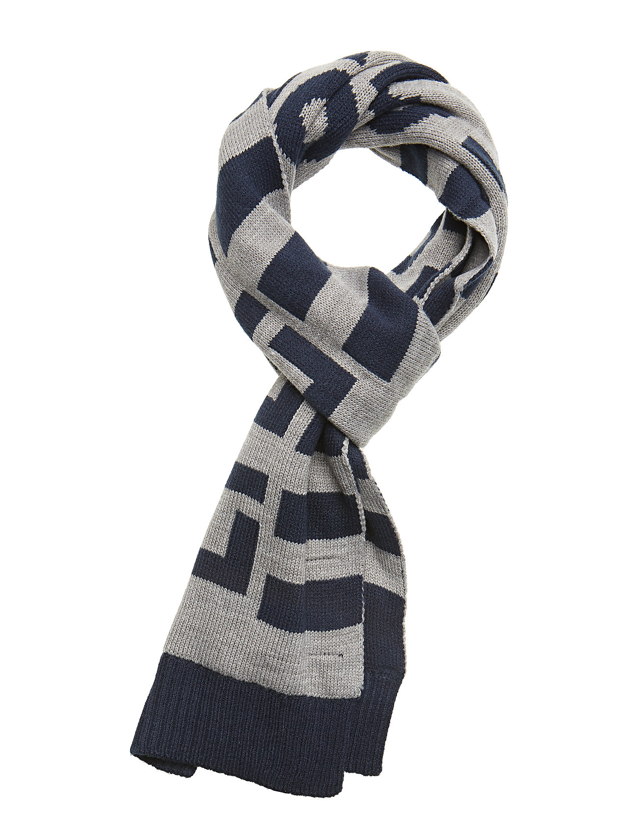 Lyle & Scott Junior Neutral Stripe Scarf - VINTAGE GREY HEATHER