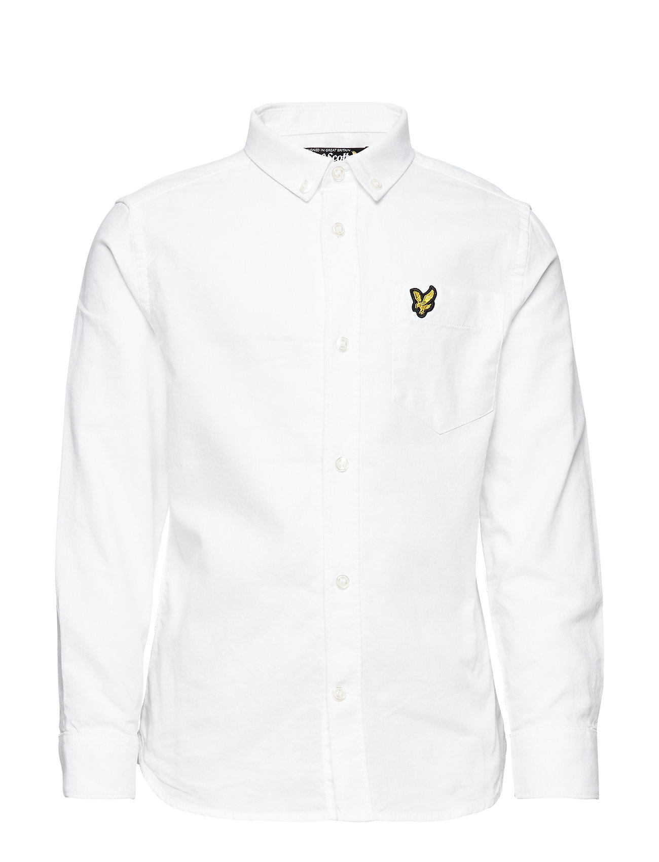 Lyle & Scott Junior Oxford Shirt LS - BRIGHT WHITE