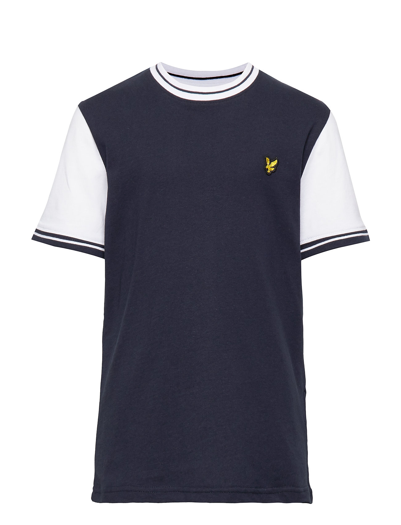 Lyle & Scott Junior Tipped T-Shirt - NAVY BLAZER