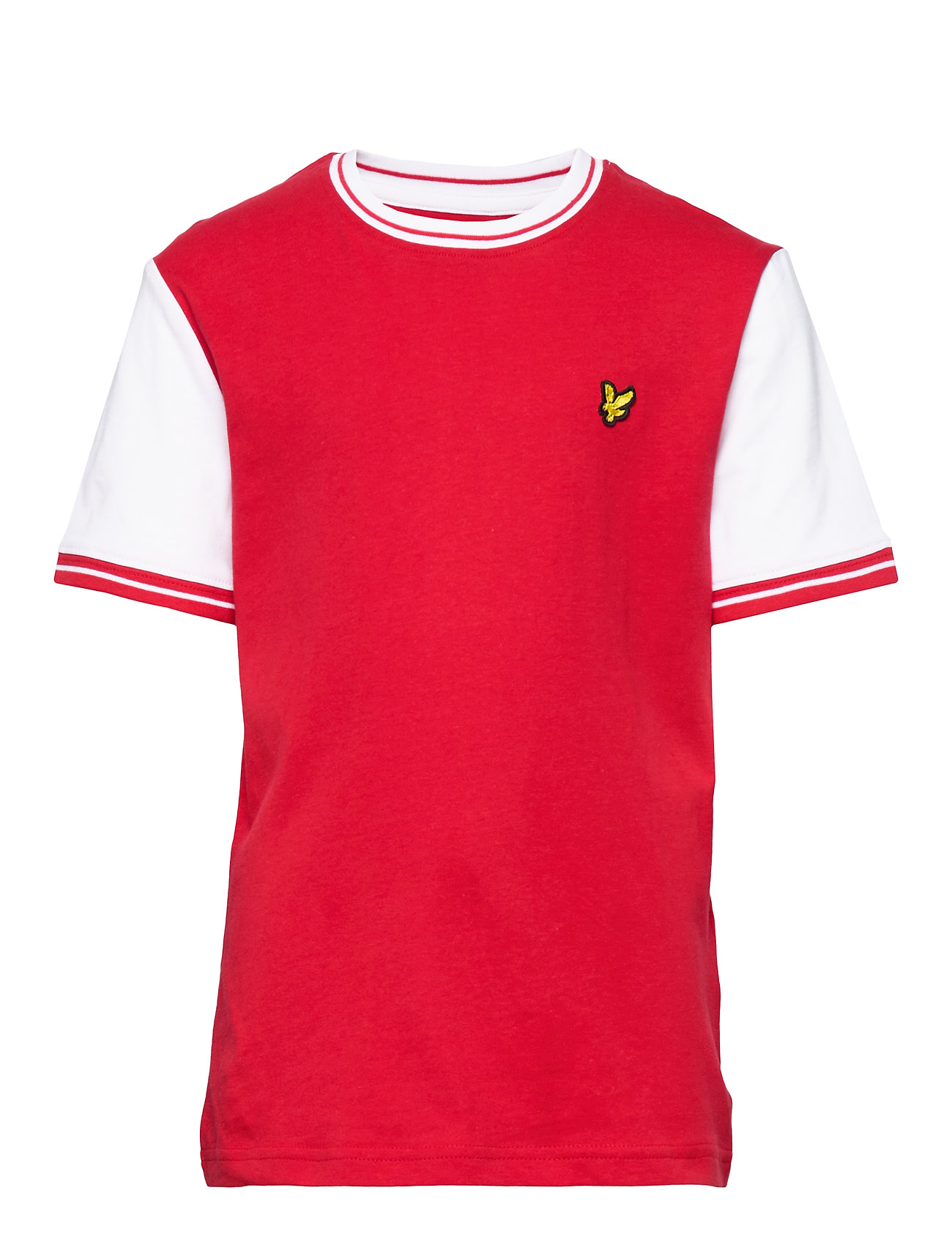 Lyle & Scott Junior Tipped T-Shirt - TANGO RED
