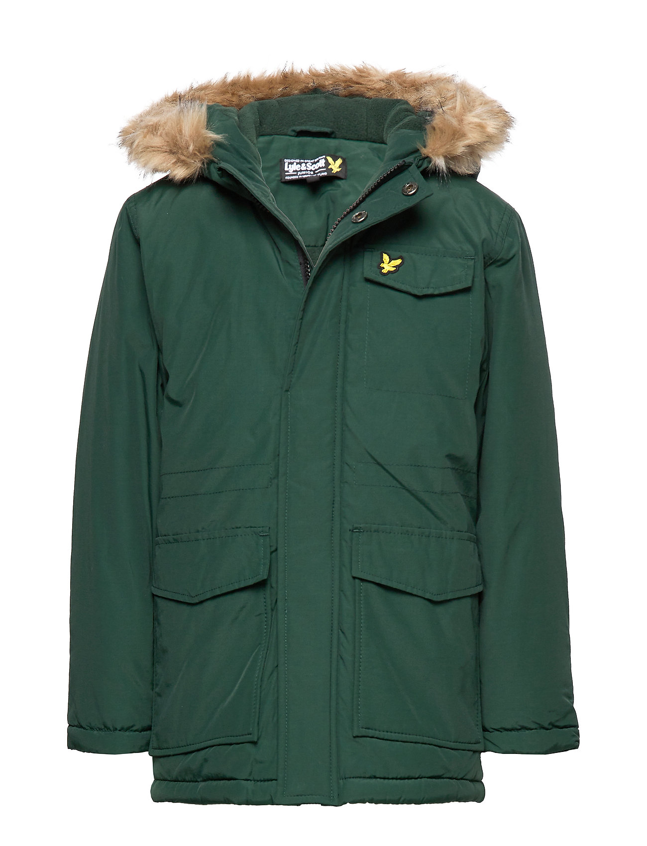 Lyle & Scott Junior Micro Fleece Parka Jacket - PINE GROVE