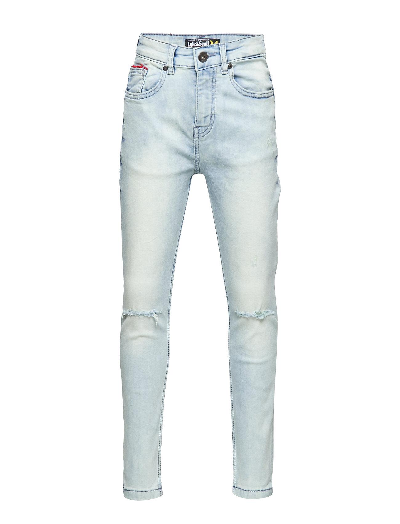 Lyle & Scott Junior Dark Wash Denim Jeans - ACID BLUE WASH