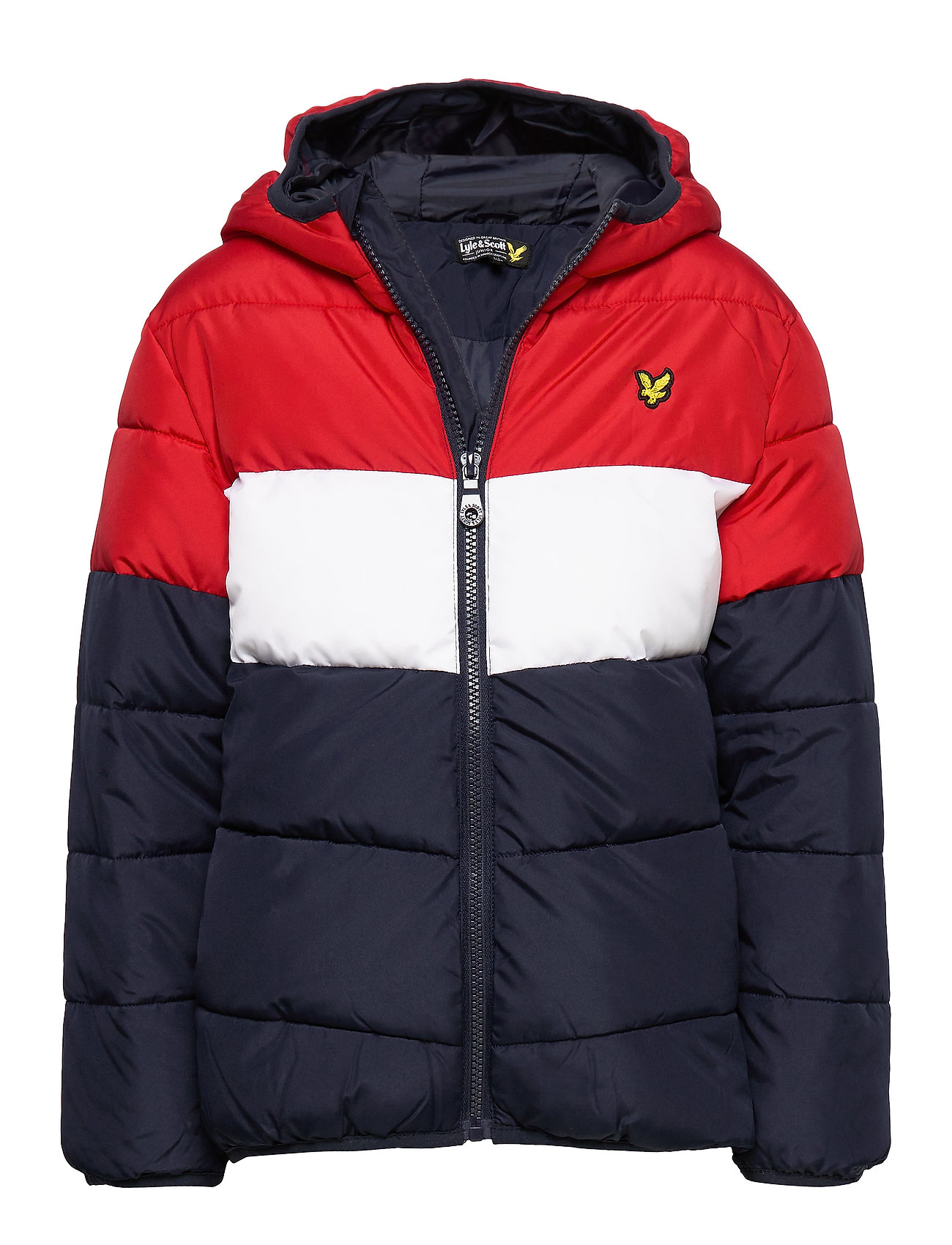 Lyle & Scott Junior Colour Block Puffa Jacket - NAVY BLAZER