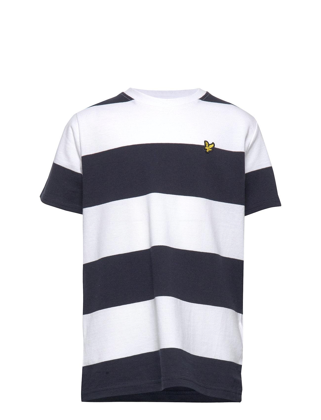 Lyle & Scott Junior Wide Stripe T-Shirt Bright White - BRIGHT WHITE
