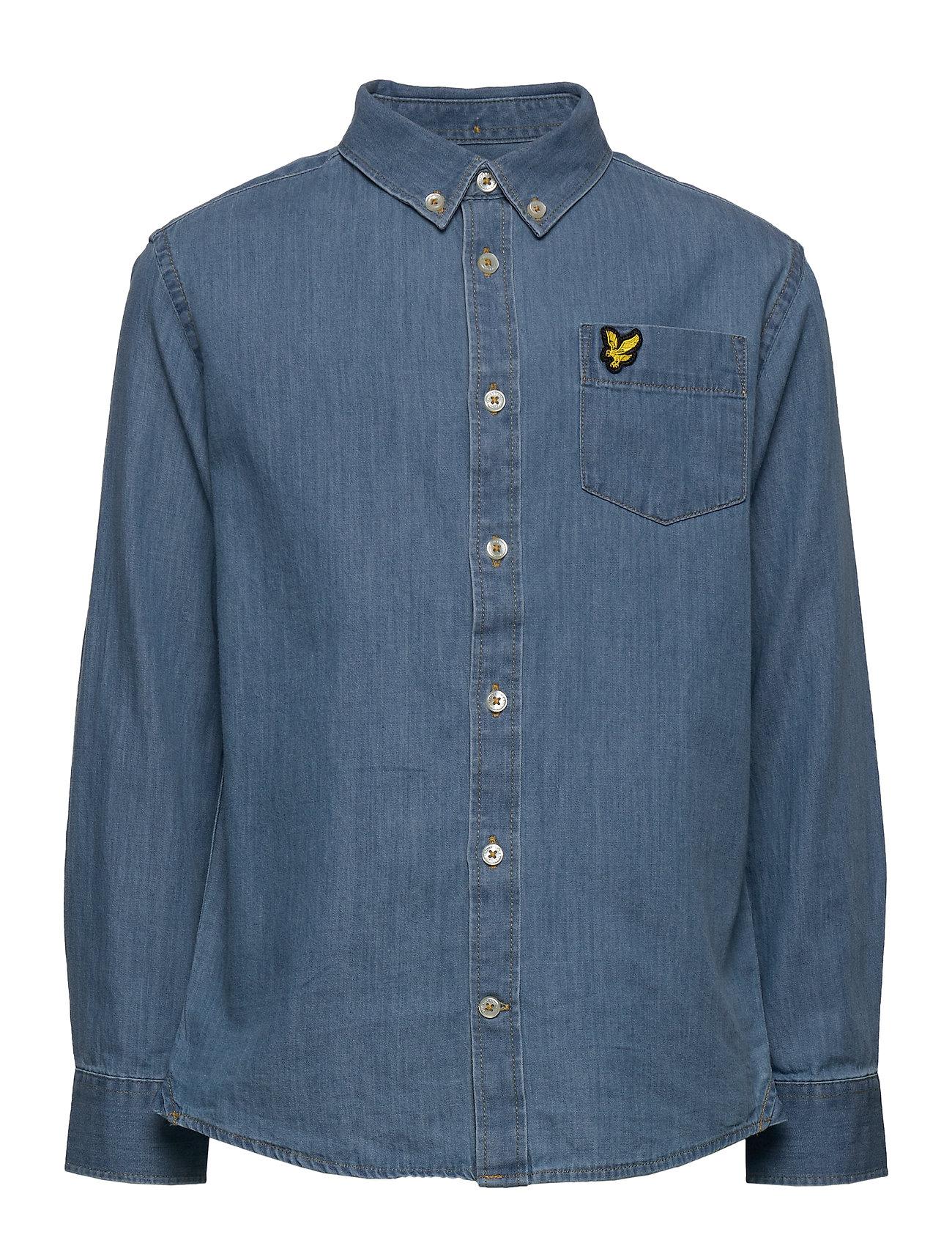Lyle & Scott Junior Chambray Shirt Light Chambray Blue - LIGHT CHAMBRAY BLUE