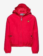 Lyle & Scott Junior - Zip Through Hooded Jacket - bomber jackets - tango red - 0