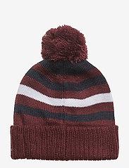 Lyle & Scott Junior - Stripe Beanie and Scarf Set - winter clothing - claret jug - 2