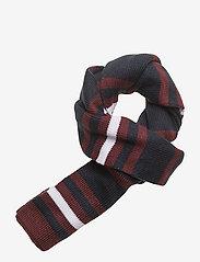 Lyle & Scott Junior - Stripe Beanie and Scarf Set - winter clothing - claret jug - 3