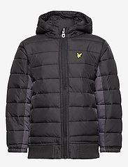 Lyle & Scott Junior - Light Weight Colour Block Jacket - puffer & padded - black - 2