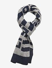 Lyle & Scott Junior - Neutral Stripe Scarf - huivit - vintage grey heather - 0